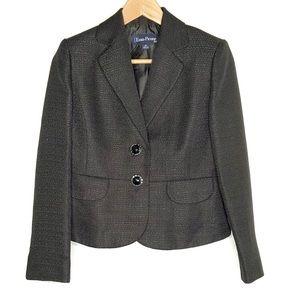 Evan Picone Petite Black Suit Jacket Size 2
